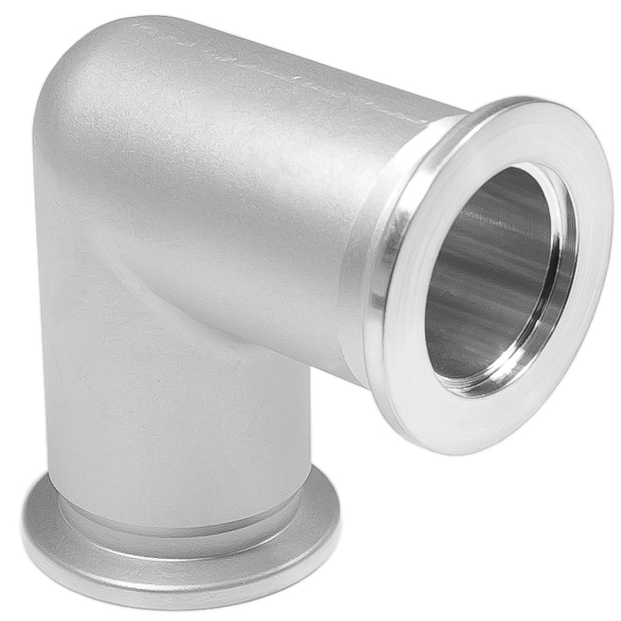 elbow-90-kf-25-vacuum-fittings,-iso-kf-flange-size-nw-25,-machined,-aluminum